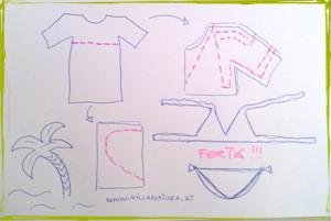 Schnittanleitung Bikini