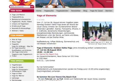 Yoga of Elements- First Outdoor Yoga in Vienna